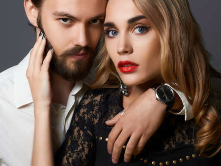 Sexy woman with handsome man Banque d'images