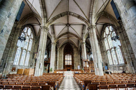 Interior looking east, Collegiate Church of St Mary, Warwick