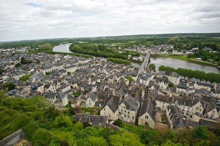 chinon: Loire Valley on a cloudy day