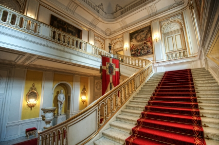 Main stairway at the Christiansborg Palace Editorial