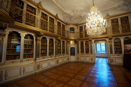 Library room of the Rosenborg Castle Editorial