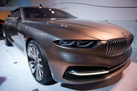 BMW Pininfarina Gran Lusso Coupe Concept on display
