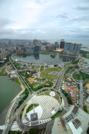 View of the city from Macau Tower Editorial