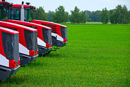 Agricultural machinery ready to cultivate the fields