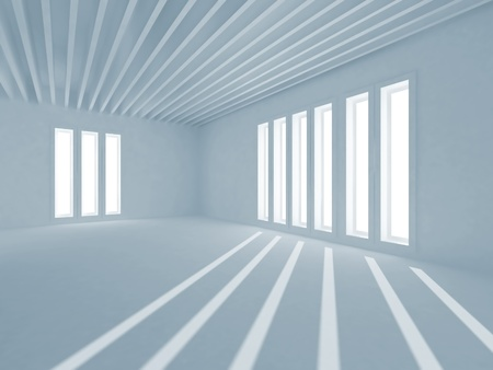 Abstract Architecture  Interior with sunlight photo