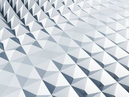 pyramidal: Abstract architecture background  White square cellular pyramidal surface Stock Photo