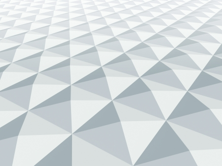 pyramidal: 3d abstract architecture background  White square pyramidal cellular surface