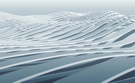 추상 3D 파 줄무늬 배경