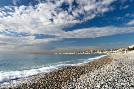 cote d'azure: Beach in Nice, France