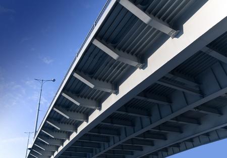 Bottom elements of modern metal bridge Stock Photo - 15468869