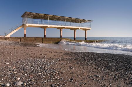 poling: Aerarium on the Black Sea coast  Sochi, Adler, Russia