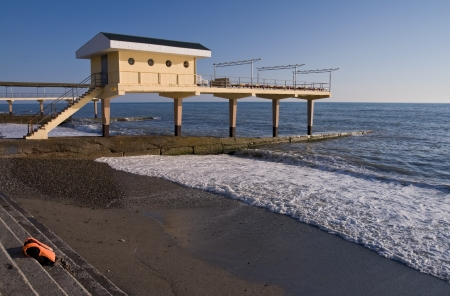 pebblestone: Aerarium on the Black Sea coast  Sochi, Adler, Russia