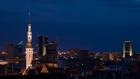 tallin: Night panorama of Tallin