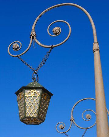 Vintage street lantern on the bridge in Saint-Petersburg, Russia. Stock Photo - 15553253