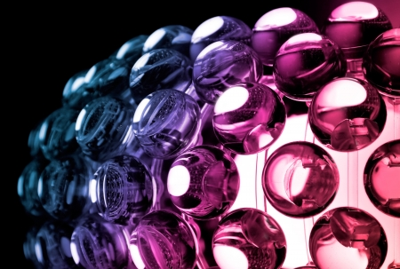 Abstract colorful background with glass spherical design elements of modern chandelier Stock Photo - 15553252