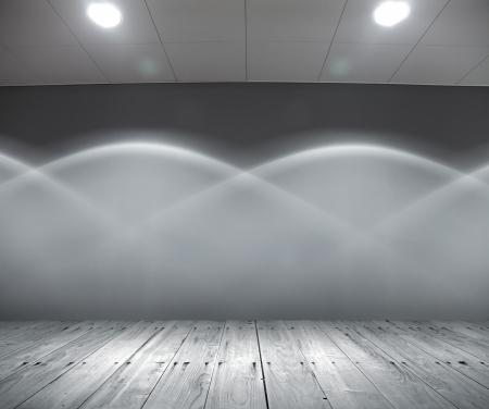 dance floor: Abstract scene interior with original illumination