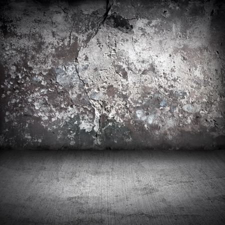 Old dark grunge interior background photo