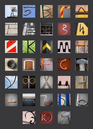 cyrillic: Uncommon abstract urban fragments with full Cyrillic Russian alphabet