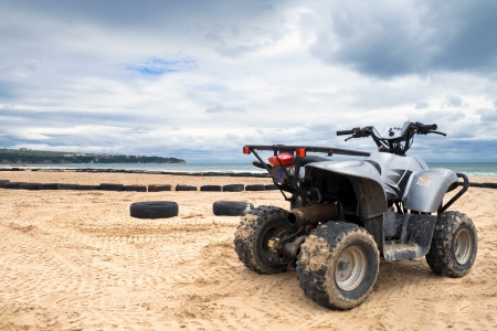 ATV bike on the sand beach