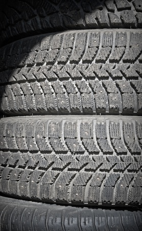 Background texture of used car tires photo