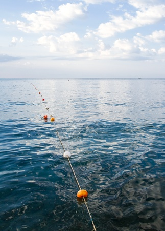 dive trip: Border of swimming area on the Mediterranean sea, Alanya, Turkey