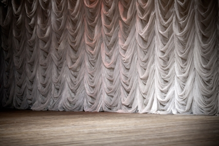 stage background: An empty theatrical stage background Stock Photo