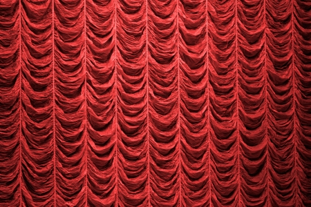 Red curtain background texture photo