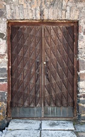 Vintage wooden weathered door texture Stock Photo - 15841000
