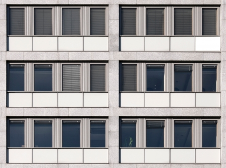 Modern European office building wall texture photo