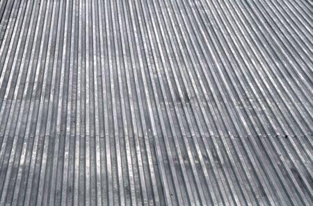Abstract gray metal roof top texture background photo