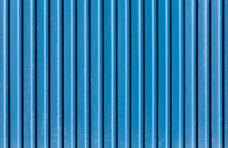 Vertical ridged blue painted metal wall texture Stock Photo - 15840684