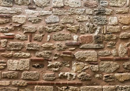 Old stone wall texture  Nessebur, Bulgaria Stock Photo - 15841136