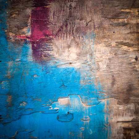 Detailed abstract background texture of old bright painted wooden surface photo