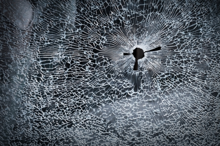 Broken glass background texture photo