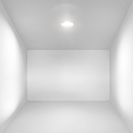 Abstract empty white interior with simple spotlight illumination photo