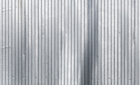 Corrugated galvanized metal wall surface texture photo
