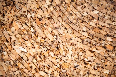Background texture of natural cork roll photo