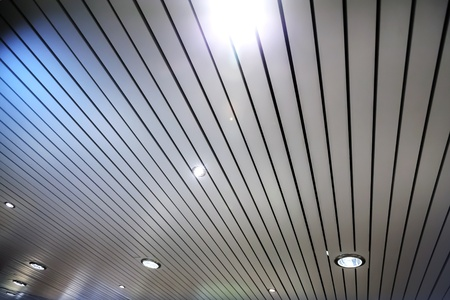 celling: Abstract fragment of modern celling with spotlight illumination