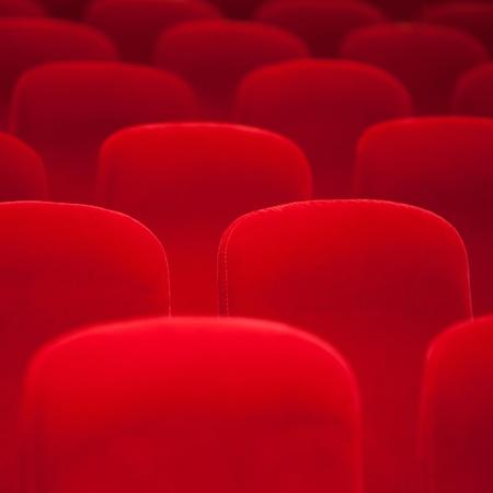 Red velvet armchairs in the empty auditorium Stock Photo - 17014592