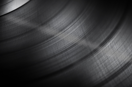 Detailed vinyl LP close up background with shallow depth of field photo