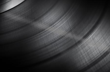 LP vinyle détaillée de près de fond avec une faible profondeur de champ