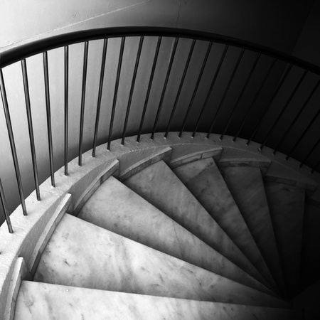 Marble footsteps on spiral ladder Stock Photo - 17034476