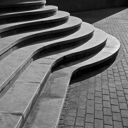 Seven curved footsteps of modern stairs Stock Photo - 17034482