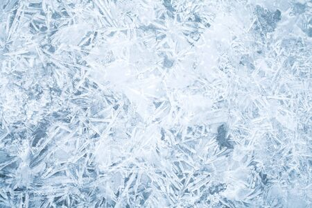 Detailed background texture of fresh thin ice photo