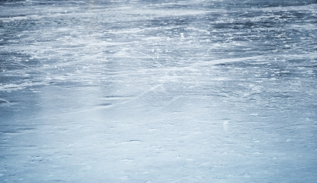 scratches: Background texture of blue ice rink Stock Photo
