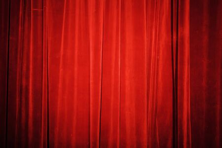 Vintage natural velvet red curtain background texture photo