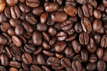 caffee: Background texture with fresh roasted coffee beans