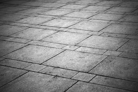concrete block: Background texture of gray tiled pavement city ground