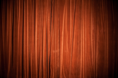 Vintage natural velvet red-brown curtain background texture photo