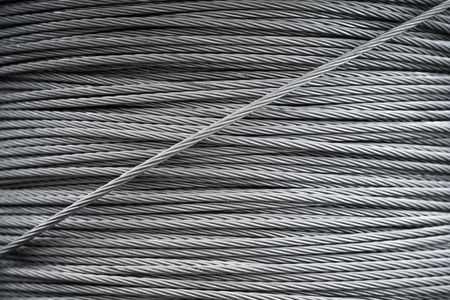 Steel rope background texture photo